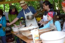 Permaculture cooking workshops in the Rocket Kitchen